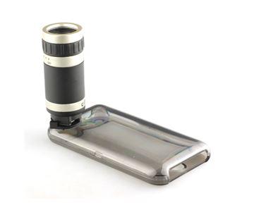 תמונה של עדשת זום ל iPhone